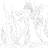 Goldfish en un acuario ilustración del vector