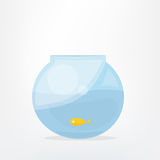 Goldfish in fish bowl. Cartoon vector illustration Royalty Free Stock Image