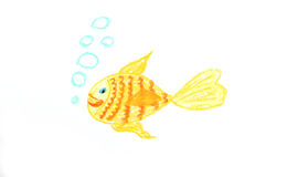 Goldfish illustration Royalty Free Stock Photos