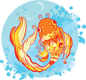 Goldfish illustration Royalty Free Stock Photo