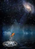 Goldfish leaps royalty free illustration