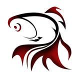 Goldfish loga ilustracja Obraz Royalty Free