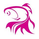 Goldfish loga ilustracja Obrazy Royalty Free