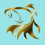 Goldfish loga ilustracja Zdjęcia Royalty Free