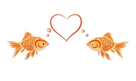 Goldfish in love Royalty Free Stock Images