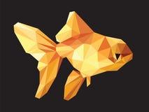Goldfish niski wielobok na czerni ilustracji
