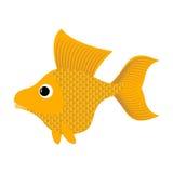 Goldfish no fundo branco O peixe fabuloso cumpre desejos YE Fotografia de Stock Royalty Free