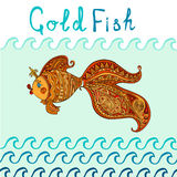 Goldfish and patterned tail Stock Images