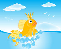 Goldfish seaborne Royalty Free Stock Image