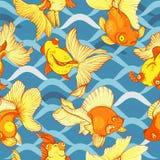 Goldfish, seamless pattern Stock Photo