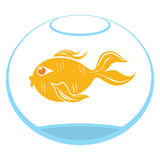 Goldfish symbol Royalty Free Stock Photography