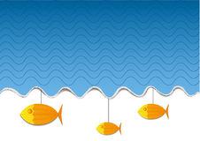 Goldfish under the sea Royalty Free Stock Photography