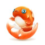 Goldfish vector icon Royalty Free Stock Images