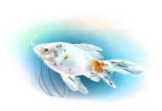 Goldfish w morzu ilustracji