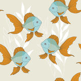 Goldfish in Water Stock Photo