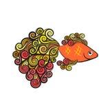 Goldfish on a white background Stock Image