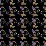Goldfish wzór na czarnym tle z gradientem ilustracja wektor
