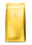 Goldfolienbeutel mit Luftventil Lizenzfreies Stockbild