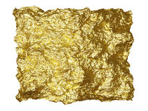Goldfolienflecken Stockbilder