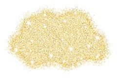 Goldfunkeln Goldstaubschein Goldstelle Luxushintergrund für Ihr Design Moderne Art und Weise Auch im corel abgehobenen Betrag Lizenzfreies Stockfoto
