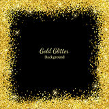 Goldfunkeln-Grenzrahmen Vektor Lizenzfreies Stockfoto