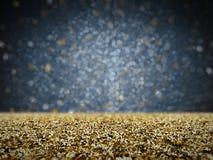 Goldfunkeln mit bokeh Hintergrund Stockbild