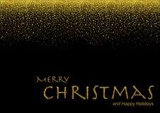 Goldfunkeln-Schein-Weihnachtshintergrund Lizenzfreies Stockfoto