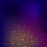 Goldfunkeln und heller Sand, farbiger Hintergrund Lizenzfreies Stockfoto