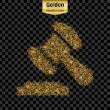 Goldfunkeln-Vektorikone Stockbilder