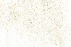 Goldfunkelnbeschaffenheit lokalisiert auf Weiß Stockbild