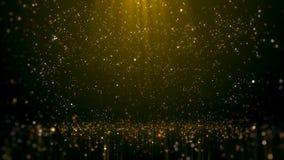 Goldfunkelnder Bokeh-Zauber-Zusammenfassungs-Hintergrund stockbild