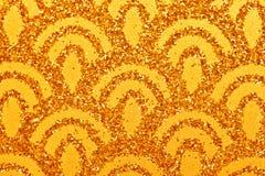 Goldfunkelnder Hintergrund Lizenzfreie Stockfotos