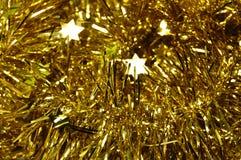 Goldfunkelndes Lametta Lizenzfreies Stockbild