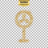 Goldfunkelngegenstand Lizenzfreies Stockfoto