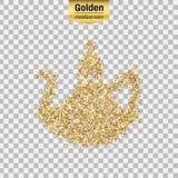 Goldfunkelngegenstand Lizenzfreies Stockbild