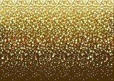 Goldfunkelnhintergrund Lizenzfreies Stockbild