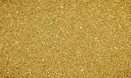Goldfunkelnhintergrund-Beschaffenheitsfahne Vector glittery festlichen Hintergrund für Karte oder Feiertag Weihnachtshintergrund lizenzfreie abbildung