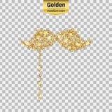 Goldfunkelnikone Lizenzfreie Stockbilder