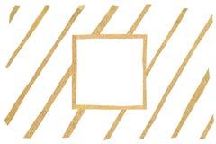 Goldfunkelnquadratrahmen-Papierschnitt Stockfoto