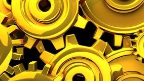Goldgänge auf schwarzem Hintergrund stock footage
