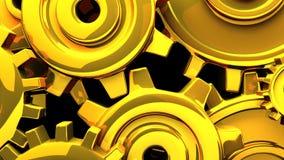 Goldgänge auf schwarzem Hintergrund stock video