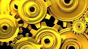 Goldgänge auf schwarzem Hintergrund stock video footage