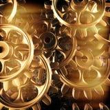 Goldgänge und -zähne Makro stock abbildung