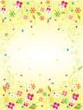 Goldgartenkarte stockbild