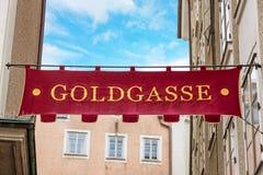 Goldgasse Salzburg Royalty Free Stock Photos