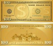 Goldgeldanmerkung, damit Spielleidenschaft, Bargeld, die Anmerkung spielt vektor abbildung