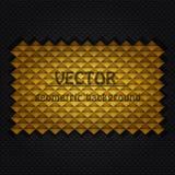 Goldgeometrischer Hintergrund stock abbildung