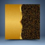Goldgeometrischer Mosaik-Zusammenfassungshintergrund Stockfoto