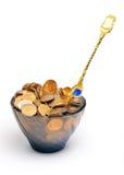 Goldgetränk Lizenzfreie Stockfotos