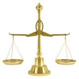 Goldgewicht-Skala Lizenzfreie Stockbilder